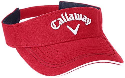(キャロウェイ) Callaway 定番 ロゴ入り バイザー (サイズ調整可能) 帽子 ゴルフ/247-7290600 < メンズ >