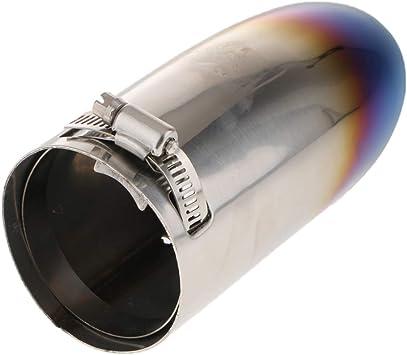 Silenciador De Escape De Autom/óviles 1 Pieza De Escape Del Coche Universal Extremidad Del Silenciador Del Tubo De Acero Inoxidable Cromados Coche Modificado Cola Garganta Color : 51MM IN 76MM OUT