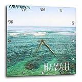 3dRose dpp_30920_1 Kauai Hawaii Ocean and Sky Wall Clock, 10 by 10-Inch For Sale