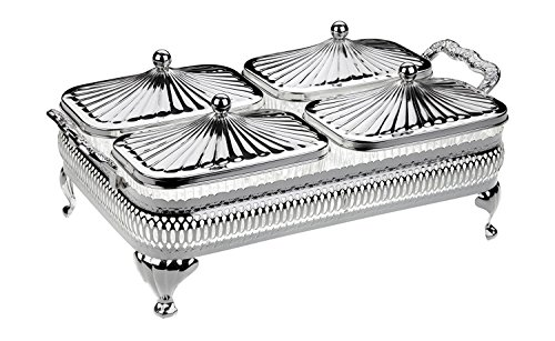 Queen Anne Relish Snack Bowls in Silver Plated frame