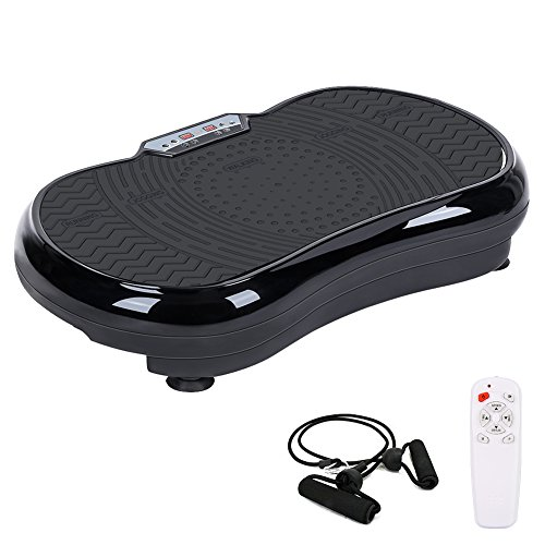 Vibration Plate Machine, Whole Body Vibration Platform Fitness Workout Muscle Trainer with Pulling Rope Body Shaper Exercise Equipment for Home
