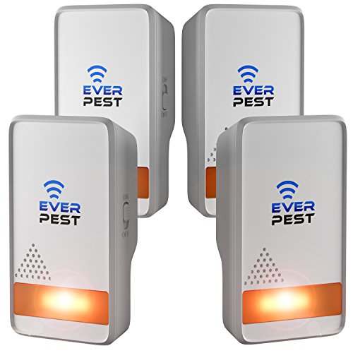 Ultrasonic Mosquito Pest Repellent 2018 - Professional Home Control Plug in Electronic Repeller (4 Pack) - Repels Ants, Fleas, Rats, Rodents, Roaches, Fruit Flies and More