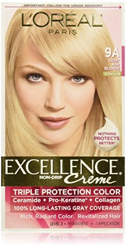 Oreal Creme (L'Oréal Paris Excellence Créme Permanent Hair Color, 9A Light Ash Blonde)