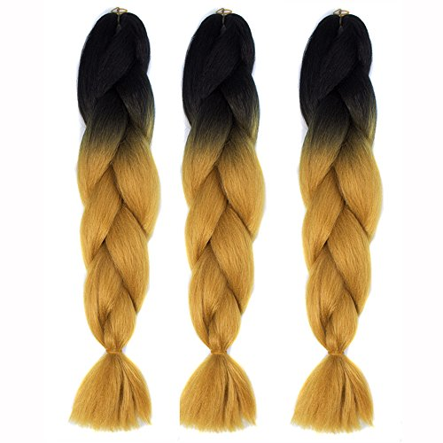 Hot Sale Braiding Hair Extensions, Tuscom Ombre Braiding Hair Kanekalon Synthetic Jumbo Braiding Hair Extensions for Twist Brading Hair, High Temperature Hair Replacement Wigs (CBZ-011)