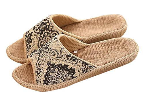Mules Open Happy Wicking Black Toes Slip Ethnic Moisture Flax Shoes Indoor Slip Non or Vintage Outdoor Ons Lily Sandals Y46wqxr4
