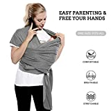 FRUITEAM Baby Sling, Baby Carrier for Easy Care of Babies, Newborn Baby Sling