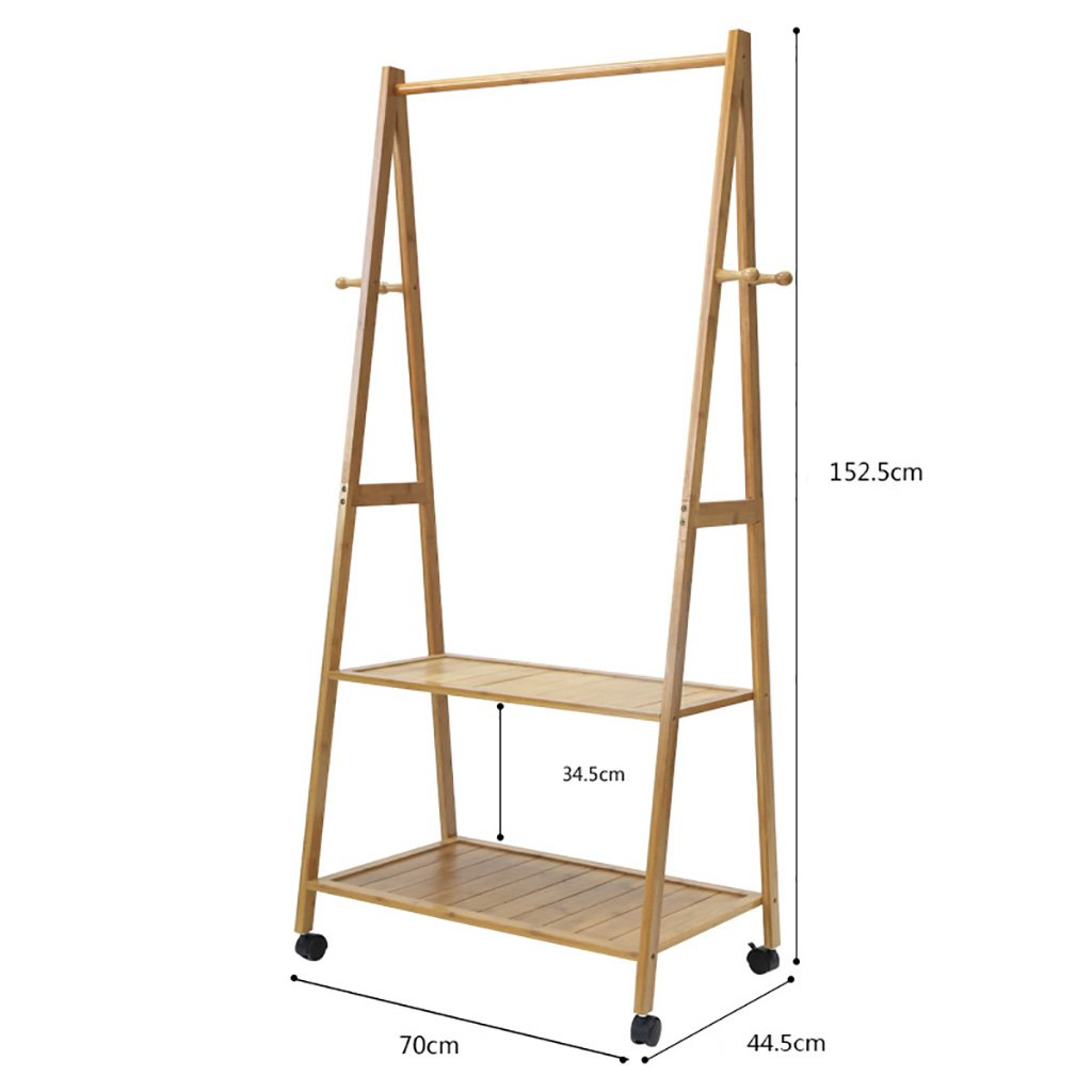 D Coat Stand,Housewares Standing Coat Hat Rack Bamboo Wooden Creative Storage Shelves Hanger,70  44.5  152.5cm