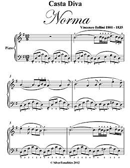 Casta diva norma bellini easy piano sheet music kindle - Vincenzo bellini casta diva ...
