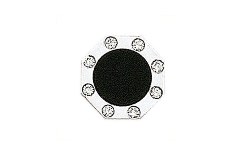 14K White Gold Octagon Diamond and Black Onyx Tie Tac-86194