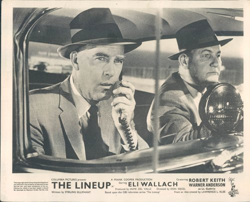 THE LINEUP Model LOBBY CARD VINTAGE EMILE MEYER MARSHALL REED POLICE CAR