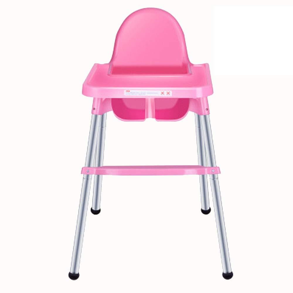 赤ちゃん ハイチェア子供 椅子 赤ん坊の幼児幼児のための皿が付いている調節可能な供給の赤ん坊の高い椅子の高い椅子の解決 (色 : ピンク)  ピンク B07T5K4KWK