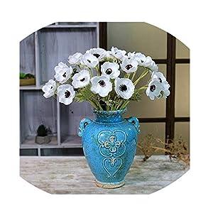 Sevem-D New 1Pc Artificial Anemone Flowers Wedding Home Table Flower Party Decoration Boutonniere Bouquet 57
