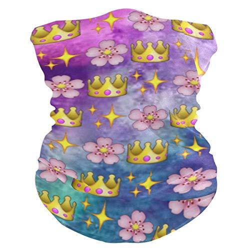 Pink Flower Crown Balaclava Womens Headband Scarf Mens Versatile Bandana, Muffler, Neck Gaiter, Magic, Foulard - Technical Balaclava