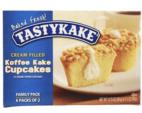 Tastykake Cream Filled Koffee Kake Cupcakes - Three Family - Tasty Muffin
