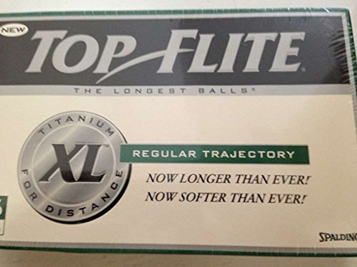 Spalding Top Flite XL Titanium Distance Regular Trajectory - 15 Golf Balls