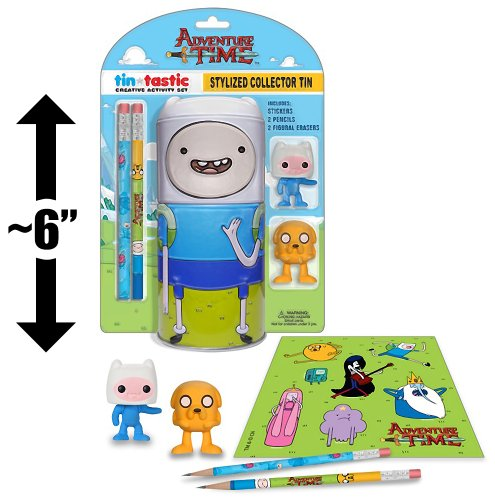 "Finn ~6"" Collector Tin & Creative Activity Set: Adventure Time x Funko Tin-Tastics Collector Set"