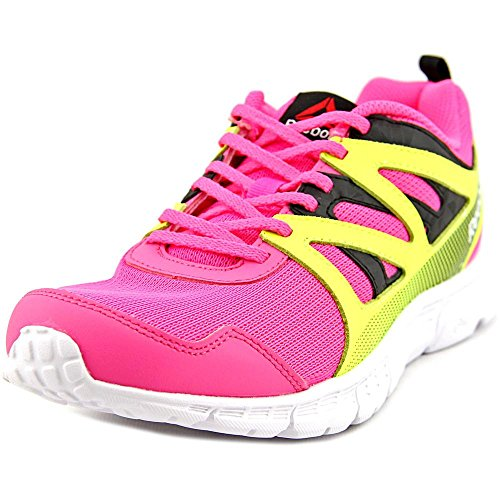 e5a8686e3 Galleon - Reebok Kids' Run Supreme 2.0-K Track Shoe, Solar Pink/Black/Solar  Yellow, 5 M US Big Kid