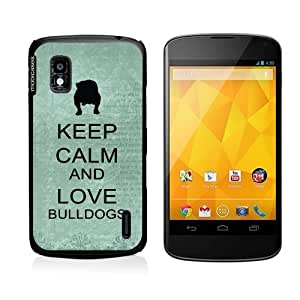 Keep Calm And Love Bulldogs Teal Floral Samsung Galaxy Note 2 Note II N7100 Case Fits Samsung Galaxy Note 2 Note II N7100