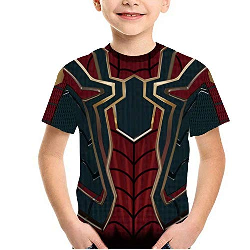 Tsyllyp Boys Girls Superhero T-Shirt Iron Spider Verse Miles Venom Costumes Tops