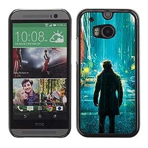 // PHONE CASE GIFT // Duro Estuche protector PC Cáscara Plástico Carcasa Funda Hard Protective Case for HTC One M8 / Comic vigilante solitario /