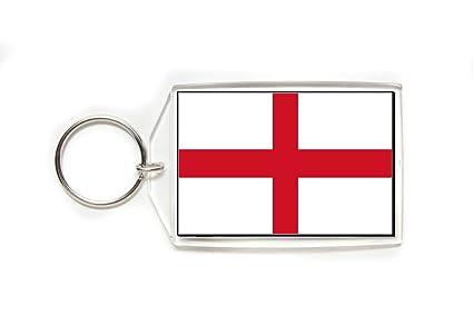 Amazon.com: Inglaterra Inglés Bandera acrílico Llavero ...