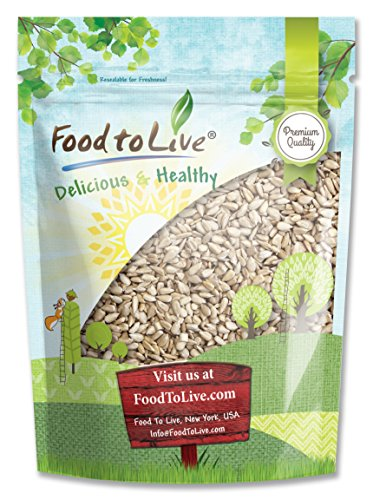 Sunflower Seeds, 4 Pounds - Kernels, Shelled, Kosher, Raw, Vegan, Bulk (Calories In 1 4 Cup Sunflower Seeds)