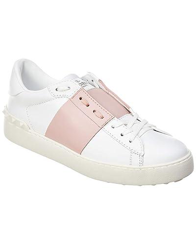 huge discount 920cb 5e975 Amazon.com   VALENTINO Open Matte Leather Sneaker, 39, White ...