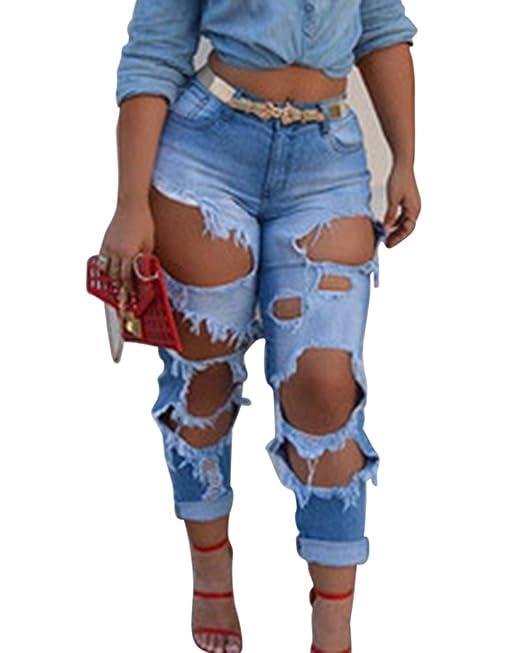 Kasen Mujeres Flojos Pantalones Jeans Skinny Flacos Vaqueros ...