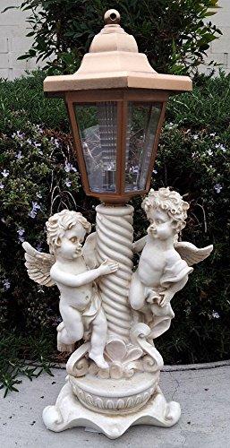 Exceptionnel A And D 2 Outdoor Garden Decor Solar Fairy Angel/Cherub Statue Sculpture  LED Lights