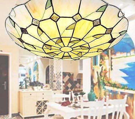 WINZSC Tiffany lámparas de Techo Lámpara de Dormitorio LED ...
