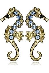 Betsey Johnson Pave Seahorse Stud Earrings