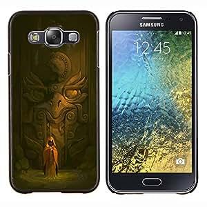"""For Samsung Galaxy E5 E500 Case , Antiguo Templo Monk águila Estatua Espiritual"""" - Diseño Patrón Teléfono Caso Cubierta Case Bumper Duro Protección Case Cover Funda"""