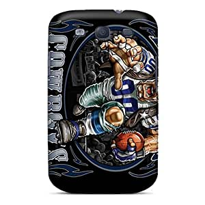 Rugged Skin Case Cover For Galaxy S3- Eco-friendly Packaging(dallas Cowboys)