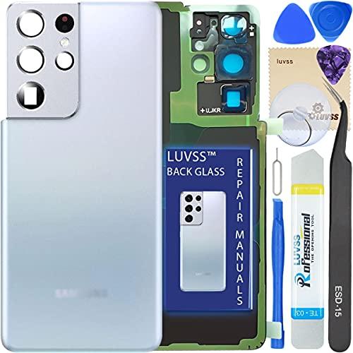 Tapa Trasera De Repuesto Para Samsung S21 Ultra silver