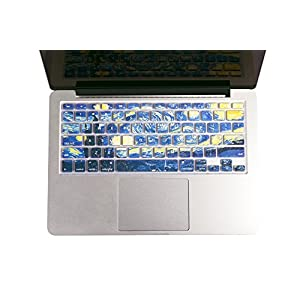"""Herngee Starry Night by Van Gogh Macbook keyboard Cover for MacBook Air 13"""" MacBook Pro 13"""" 15"""" 17"""" (with or without Retina Display) and iMac Wireless"""