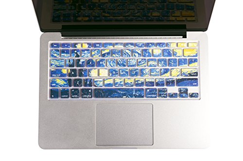 "Herngee Starry Night by Van Gogh Macbook keyboard Cover for MacBook Air 13"" MacBook Pro 13"" 15"" 17"" (with or without Retina Display) and iMac Wireless"