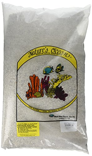 White Marine Sand (Nature's Ocean No.1 Aragonite Sand for Aquarium, 20-Pound)
