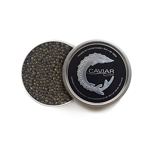 Caviar Russe Select Osetra Caviar, Caspian Sea Caviar, 1.75 oz (Acipenser (Caspian Osetra Caviar)