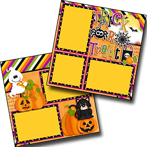 Trick or Treat Spider - Premade Scrapbook Pages - EZ Layout 3868 -