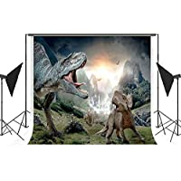 ESOOR 5x7ft Dinosaur Ages Waterproof Suede Fabric Backdrop Background for Photography Studio Video Shooting