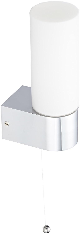Ranex Ostia - Aplique de acero y cristal, cromado, color blanco [Clase de eficiencia energética D] Ranex GmbH 3000.052
