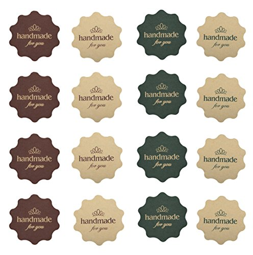 IMagicoo 480 Lovely Cute Handmade Label Seal Sticker Handmade Bakery Decorative Sticker (Style-2)