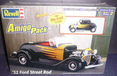 Pack Rod Kit (#6685 Revell Amigo Pack '32 Ford Street Rod 1/24 Scale Plastic Model Kit)