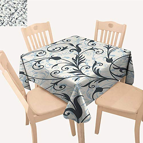 UHOO2018 Square/Rectangle Polyester Table Cloth backgroun from a Ornament Fashionable Wallpaper or Textile Easy Care Spillproof,50x 53inch (Bistro Maui)