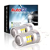 AutoEC 2x Super Bright White/Yellow Dual-Color 3157 3155 3457 4157 28-SMD Switchback LED Bulbs For Turn Signal Lights 2-pack