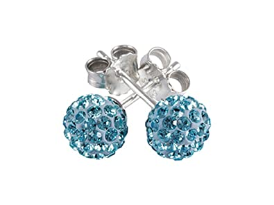 25942d069 Amazon.com: SilveRado Earrings Bling Bling Blue Bead/Charm: Stud ...