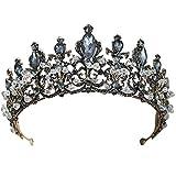 Black Crystal Wedding Tiara Bridal Crown for Women Wedding Bride Rhinestone Crowns Headband Jewelry Hair Accessories