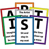 Art Room Rules - The Artist Pledge Classroom Management Posters