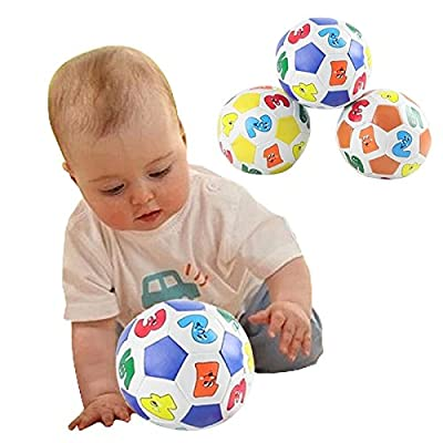 Eugeneq Children Kids Educational Toy Baby Learning Colors Number Rubber Ball Plaything: Toys & Games