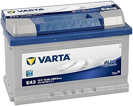 Varta E43 Batteria Auto Blue Dynamic 58372, 12V, 72 Ah, 680 A